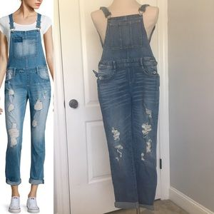Arizona Jeans Distressed Overalls